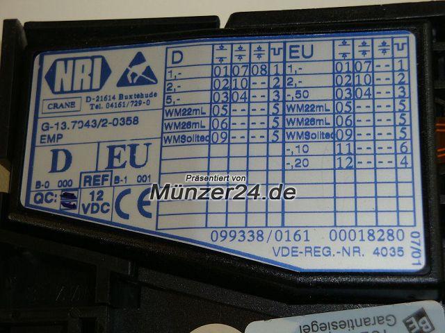 Beckmann 335 - NRI Münzprüfer Chipkarte - Präsentiert von Münzer24.de