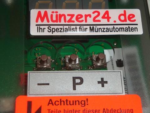 Einstellung beim Münzautomaten Beckmann EMS 81