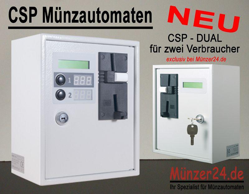 Münzautomat für 2 Verbraucher - CSP Dual
