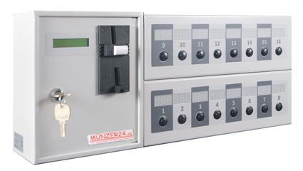 Münzautomat für 16 Verbraucher - 16 Geräte