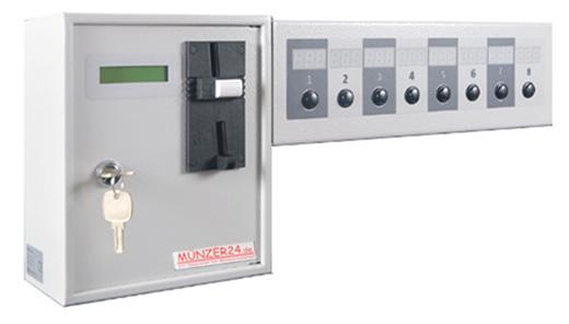 Münzautomat für 8 Verbraucher - 8 Geräte