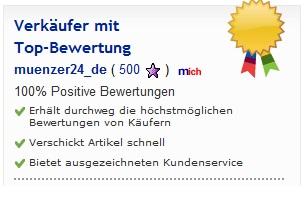 M�nzer24.de - 100 % Positive Bewertungen von ebay