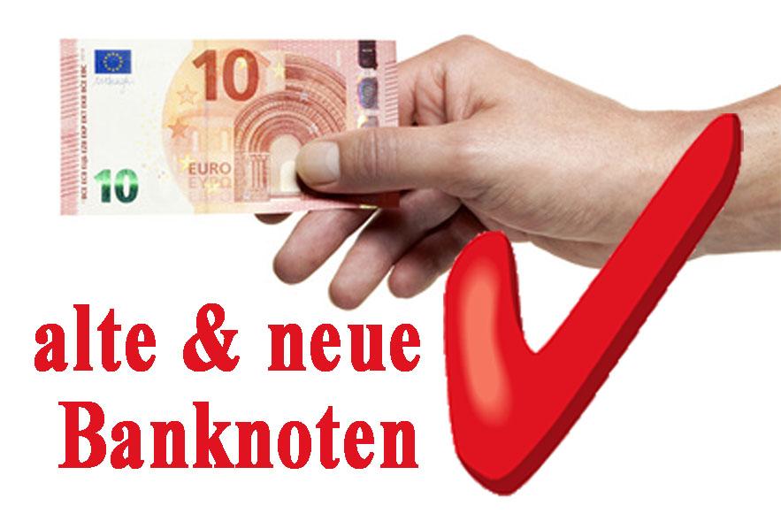 Geldwechsler neue Banknoten