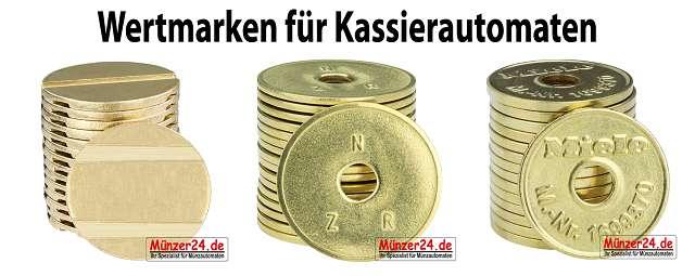 Wertmarken für Kassierautomaten