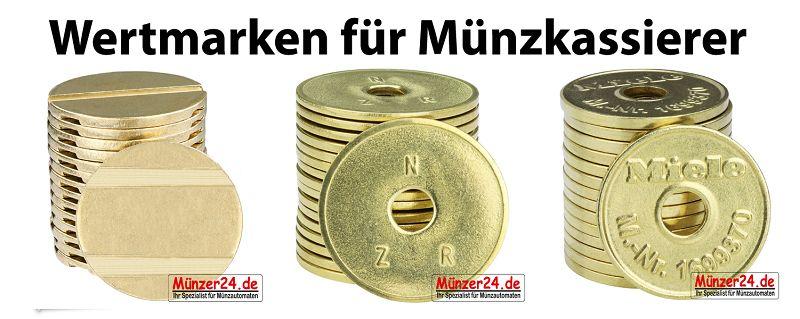 Wertmarken für Münzkassierer