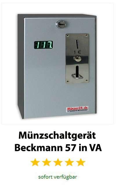 Münzschaltgerät Beckmann in Edelstahl