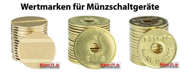 Wertmarken für Münzschaltgeräte