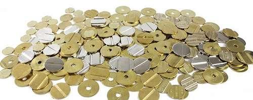 Wertmarken für Münzkontaktgeber