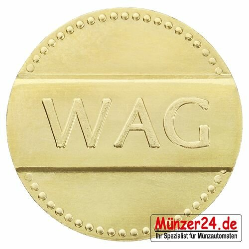AEG - WAG Wertmarke 21mm x 1,4mm Messing, VE=50